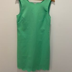 NWT's J crew Green Scalloped Dress size 8